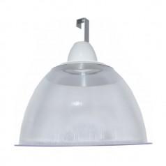 """Luminária Prismática 16"""" com canopla e gancho"""