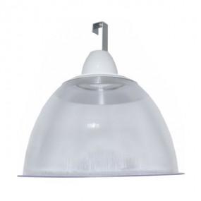"""Luminária Prismática 22"""" com canopla e gancho"""